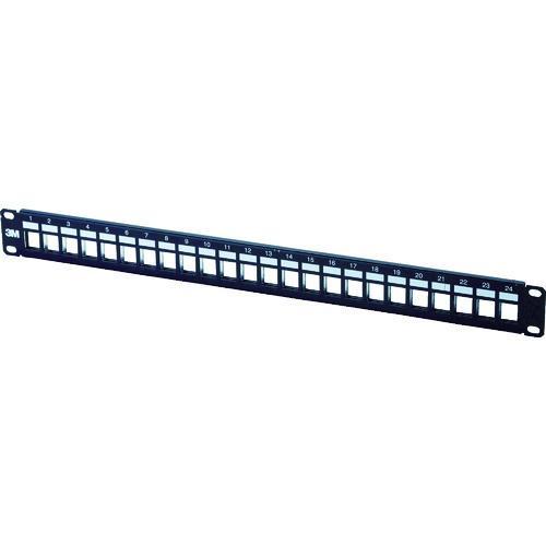 ■コーニング モジュラーパッチパネル 1Uサイズ 24ポート  〔品番:VOL-PPUD-F24K-JPN〕【7876742:0】