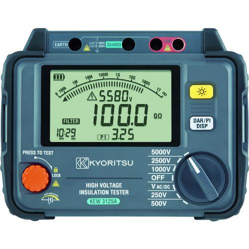 ■KYORITSU 3125A デジタル高圧絶縁抵抗計 KEW3125A 共立電気計器(株)【7895909:0】