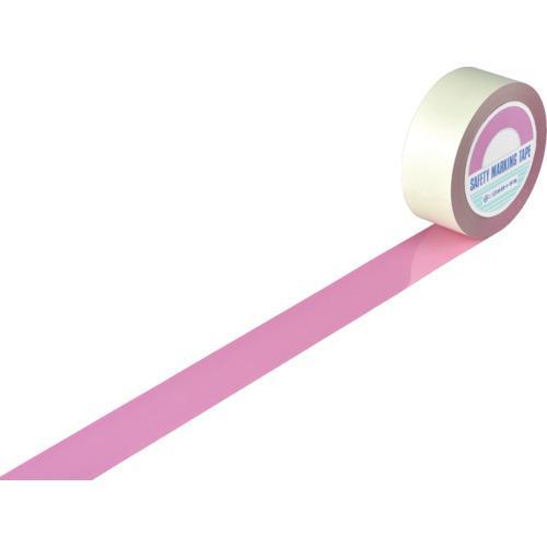 ■緑十字 ガードテープ(ラインテープ) ピンク 50mm幅×100m 屋内用 148067 (株)日本緑十字社【7917708:0】