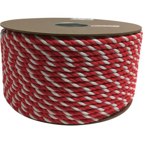 ■ユタカメイク アクリル紅白ロープ 9mmm×150m PRZ-55 (株)ユタカメイク【7948069:0】