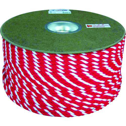■ユタカメイク アクリル紅白ロープ 12mm×100m PRZ-65 (株)ユタカメイク【7948077:0】