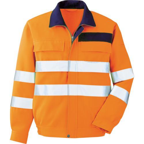 ■ミドリ安全 高視認 ブルゾン オレンジ L VE ミドリ安全(株)【7949669:0】