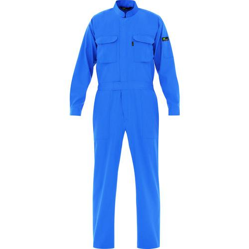 ■ミドリ安全 ベルデクセル T/C帯電防止ツナギ服 ブルー L VE ミドリ安全(株)【7949855:0】