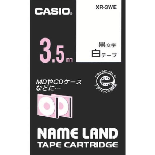 カシオ計算機 オフィス備品 ラベル用品 ■カシオ 男女兼用 ネームランド用白テープに黒文字3,5mm XR-3WE 限定モデル 8036775:0