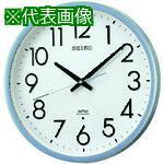 ■SEIKO 電波掛時計 直径390×52 P枠 銀色半光沢 KS265S 【8132946:0】