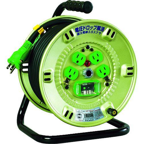 ■日動 100V漏電遮断器付電工ドラム 3.5SQ  NP-EB24F 【8147523:0】