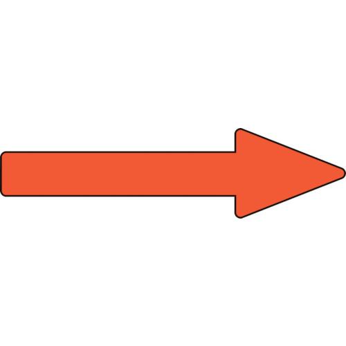 日本緑十字社 安全標識 ■緑十字 配管方向表示ステッカー →黄赤矢印 30×100mm 10枚組 期間限定お試し価格 事業所限定 アルミ〔品番:193355〕 8151004:0 法人 送料別途見積り 新登場 掲外取寄