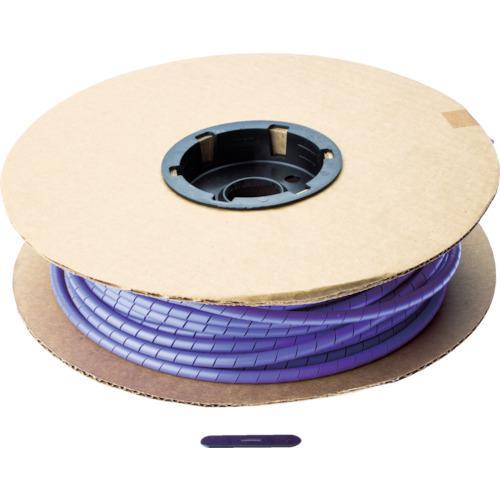 ■パンドウイット スパイラルラッピング ポリエチレン 紫  〔品番:T50F-C7〕【8180561:0】