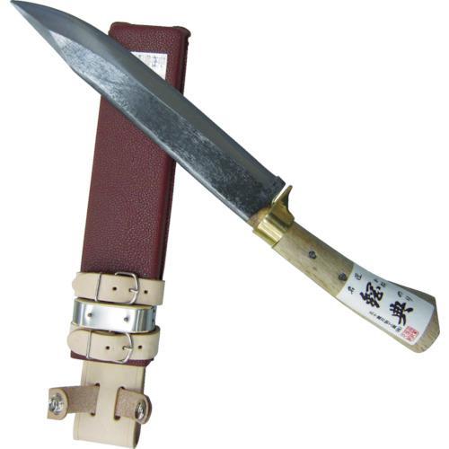 ■鋼典 安来鋼付 山鉈 片刃ツバ付 完全包装 C-30 【8188049:0】