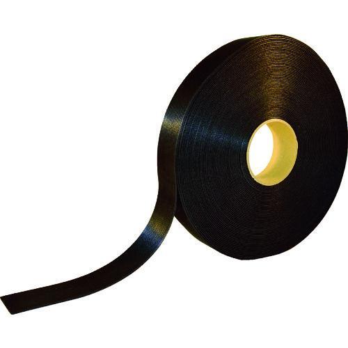 ■TRUSCO 耐候性マジックバンド結束テープ 両面 幅40mmX長さ30m 黒 TMKT-40W-BK トラスコ中山(株)【8191537:0】