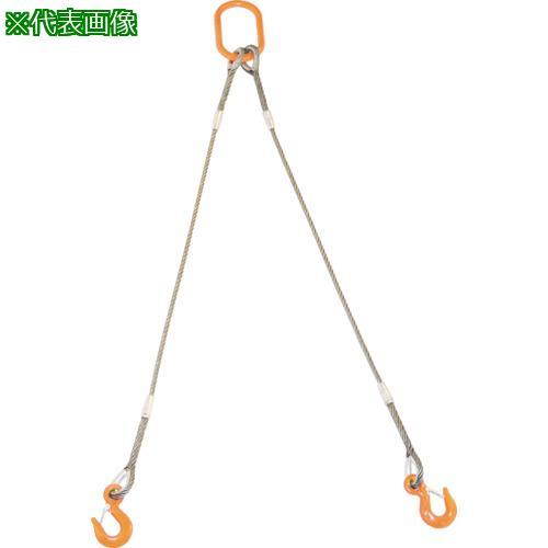 トラスコ中山 ワイヤロープスリング ■TRUSCO 2本�りWスリング 6��X3�〔�番:GRE2P6S3〕 新�未使用 8191714:0 フック付� 最安値挑戦