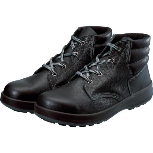 ■シモン 3層底安全編上靴 25.0cm ブラック WS22BK-25.0 (株)シモン【8192404:0】