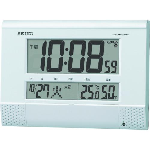 ■SEIKO プログラムチャイム付き電波時計 SQ435W 【8202562:0】