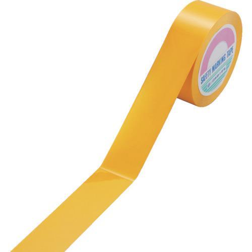 ■緑十字 ガードテープ(ラインテープ) 黄 50MM幅×100M 再剥離タイプ  149033 【8248149:0】