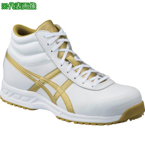 ■アシックス ウィンジョブ 71S ホワイト×ゴールド 27.5CM  FFR71S.0194-27.5 【8354576:0】