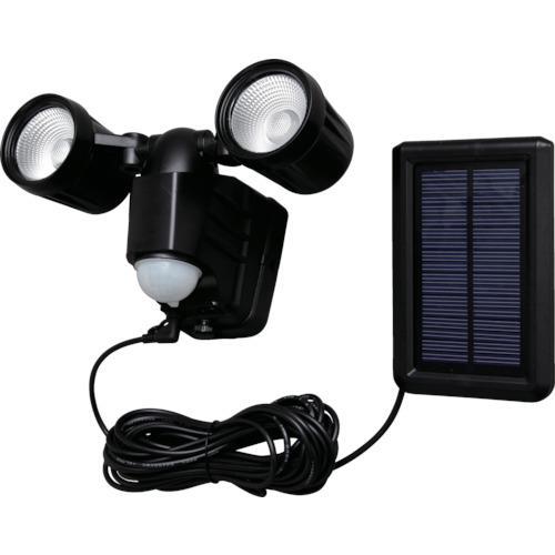 ■IRIS ソーラー式LED防犯センサーライト 400LM 2灯 高輝度   LSL-SBTN-400D 【8359077:0】