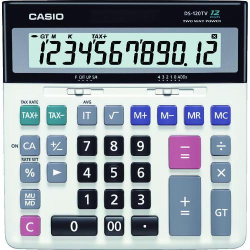 ■カシオ 加算器実務電卓 DS-120TW カシオ計算機(株)【8362054:0】