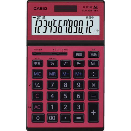■カシオ 本格実務電卓 JS-201SK-RD-N カシオ計算機(株)【8362060:0】