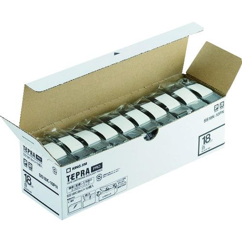 ■キングジム 「テプラ」PROテープエコパック(10個入り)白 SS18K-10PN (株)キングジム【8369199:0】