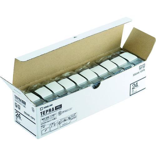 ■キングジム 「テプラ」PROテープエコパック(10個入り)白 SS24K-10PN (株)キングジム【8369200:0】