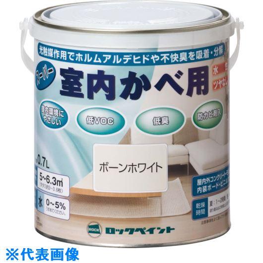 ■ロック スーパー室内かべ用 しろ 0.7L 6缶入 〔品番:H31-0501-03〕掲外取寄【8512268×6:0】