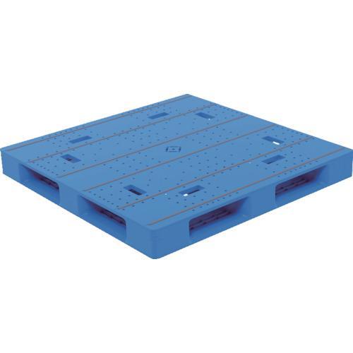 ■サンコー プラスチックパレット LX-1111D4-5 ブルー  〔品番:SK-LX-1111D4-5-BL〕直送【8551512:0】【個人宅配送不可】