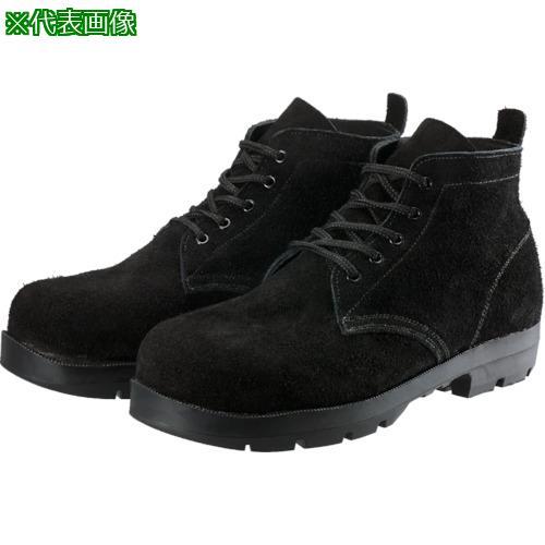 ■シモン 耐熱安全編上靴HI22黒床耐熱 24.5cm HI22BKT-245 (株)シモン【8554805:0】