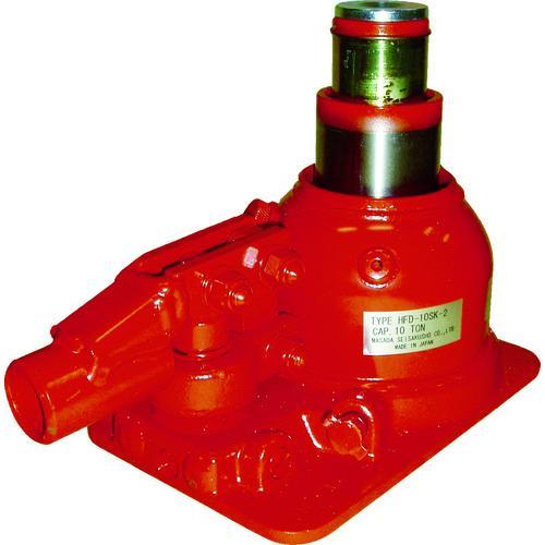 ?マサダ 二段式油圧ジャッキ(超低床式) 〔品番:HFD-10SK-2〕【8562325:0】
