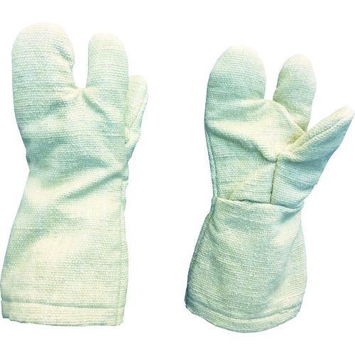 ■TRUSCO 生体溶解性セラミック耐熱手袋 3本指タイプ TCAT3-A トラスコ中山(株)【8567496:0】