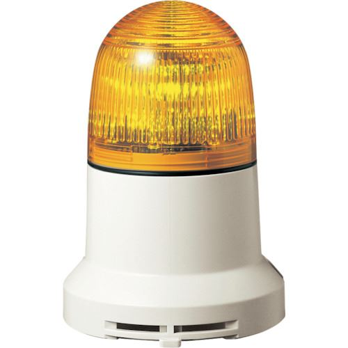 ■パトライト 小型LED表示灯  〔品番:PEW-100A-Y〕掲外取寄【8568496:0】