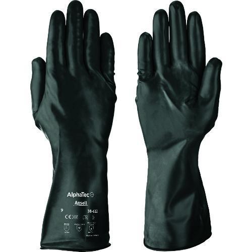 ■アンセル 耐薬品手袋 アルファテック 38-612 Lサイズ 38-612-9 【8580711:0】