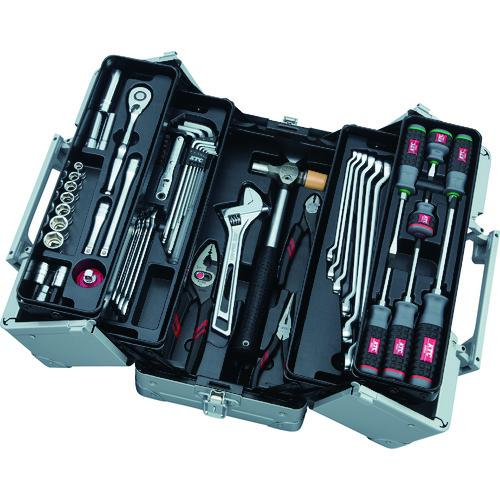 ■KTC 工具セット(両開きメタルケ-スタイプ) SK3561W 京都機械工具(株)【8594188:0】