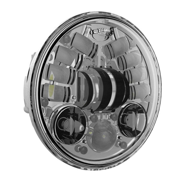 J.W.SPEAKER 5-3/4インチ LED ヘッドライト クローム