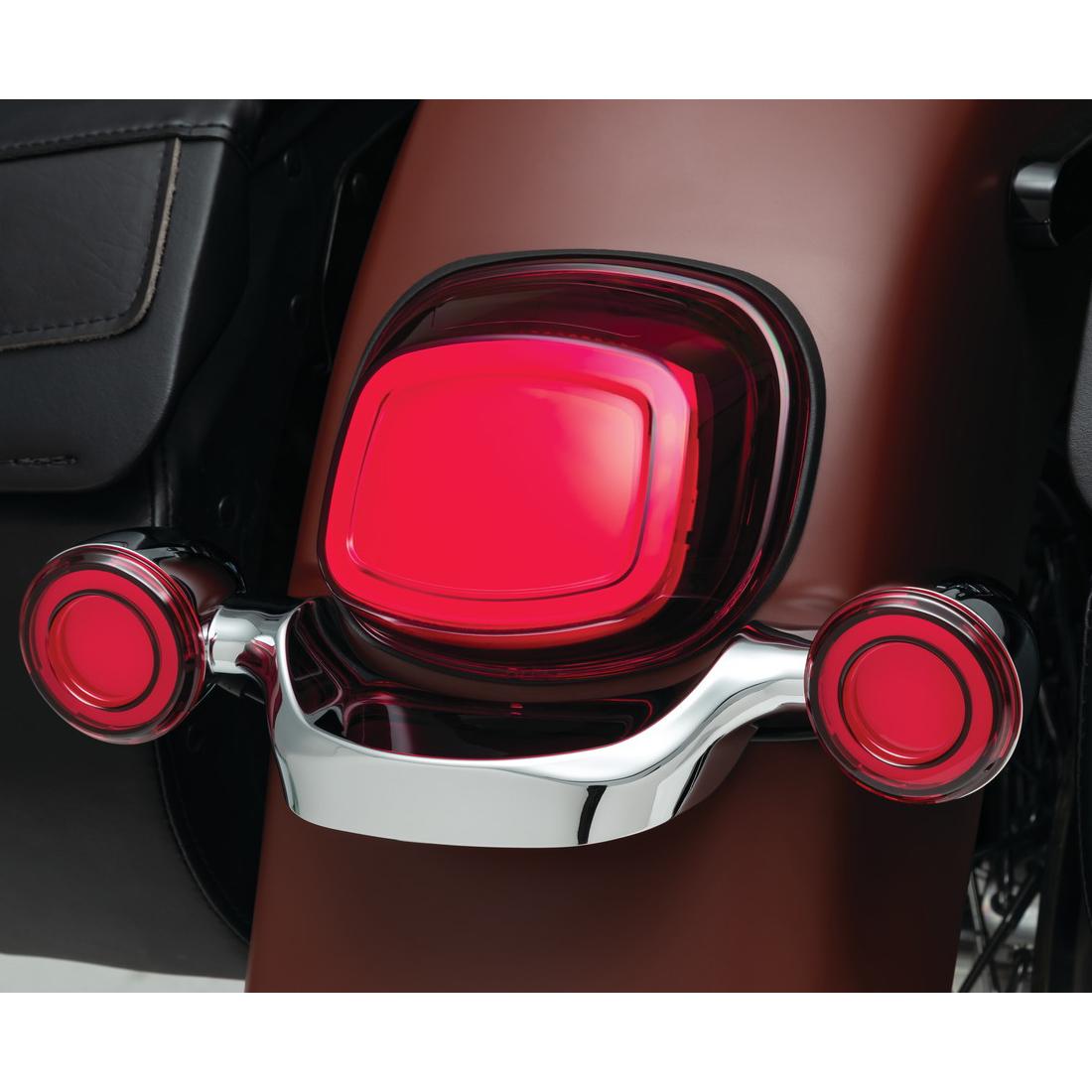 クリアキン 【Kuryakyn】TRACER LEDテールライト ライセンス灯窓無し レッド 2912