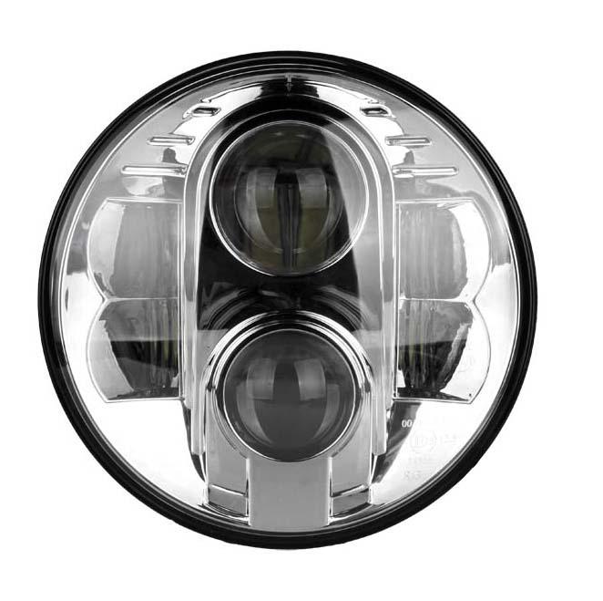 LED 7インチ・ヘッドライト クローム ツーリングモデル、FLソフテイル,FLD用