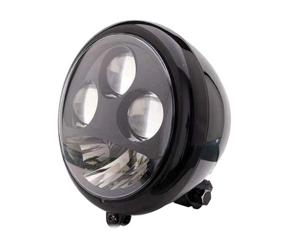 LEDヘッドライト 5-3/4インチ(シェル付き) ブラック