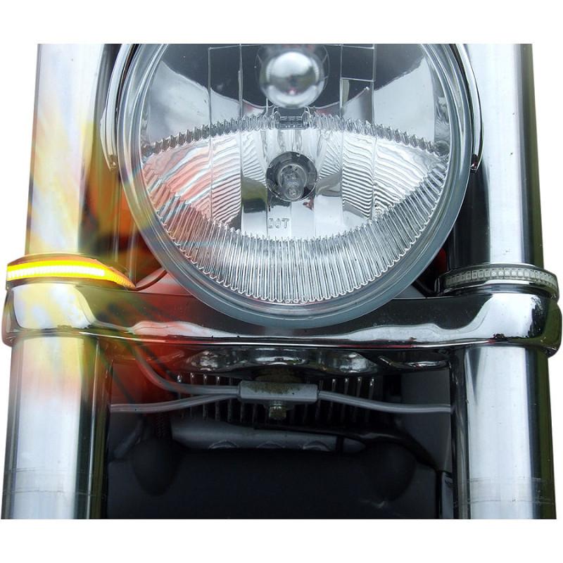 Custom Dynamics LED Wrap-Around ウインカー 41mm クローム