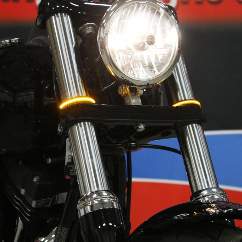 【カスタムダイナミクス】LED Wrap-Around ウインカー 41mm ブラック 2020-1216/2020-1217