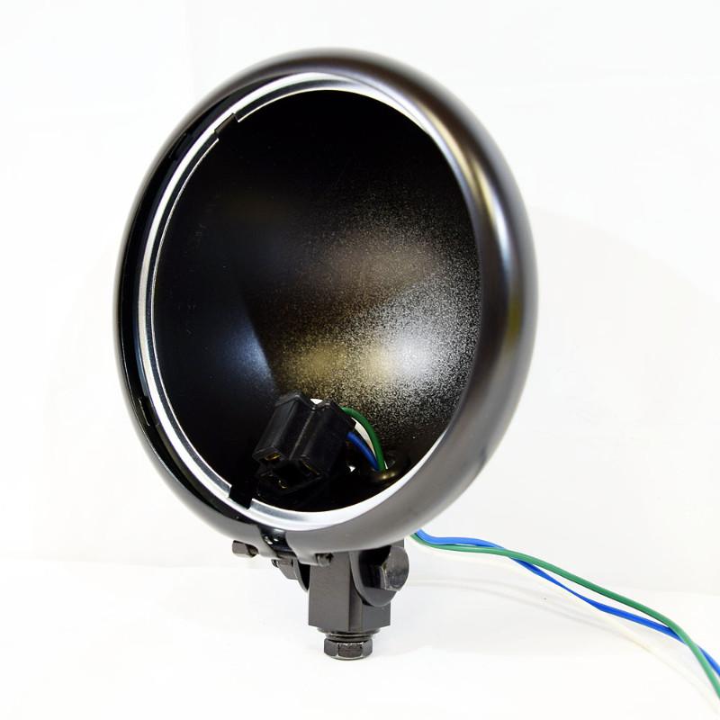 【MCS】 ベイツスタイル ヘッドライト 5-3/4インチ ブラック スポーツスター ダイナ ソフテイル 901536
