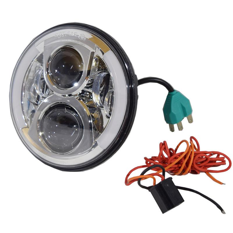 【DNA】 プロジェクター LED ヘッドライト クローム M-HL-2001