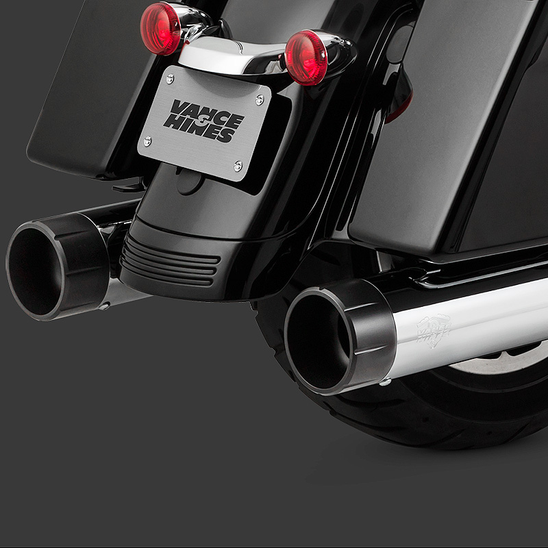 【バンス&ハインズ】 OverSized 450 RAIDER マフラー(クローム&ブラック)ミルウォーキーエイト 16670