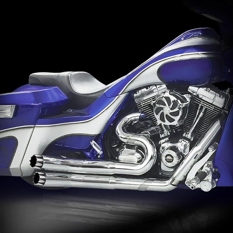 RCX Hellbender Excalibur フルエキゾーストマフラー クローム/ブラック