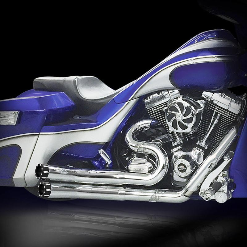 RCX Hellbender Rival フルエキゾーストマフラー クローム/ブラック