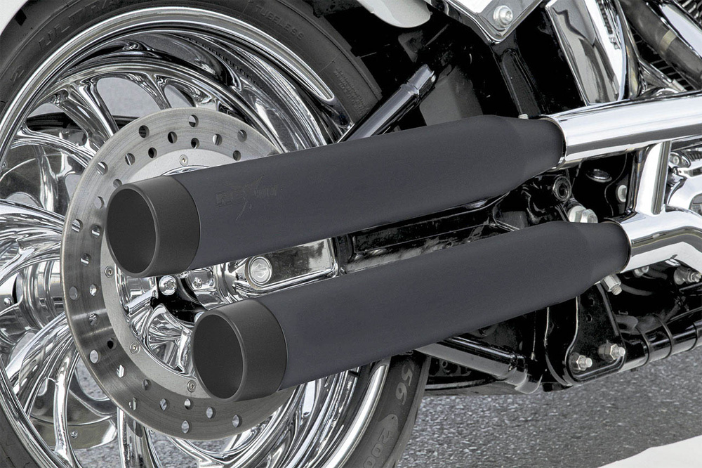 RCX Blitz 3インチ スリップオンマフラー ブラック/ブラック スポーツスター ダイナ ソフテイル