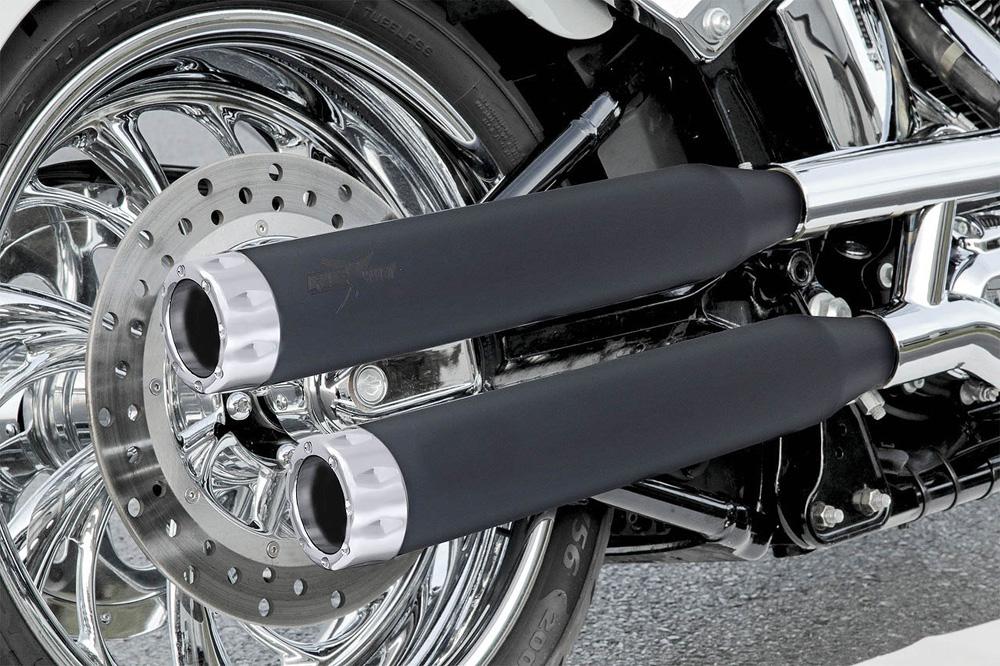 RCX Rival 3インチ スリップオンマフラー ブラック/クローム