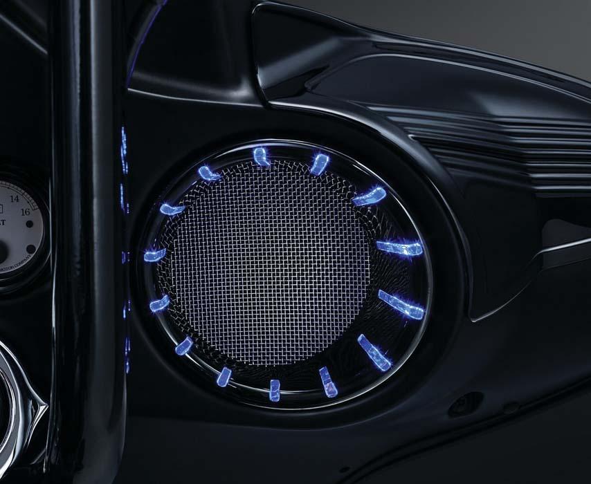 【Kuryakyn】クローム LED スピーカーベゼル