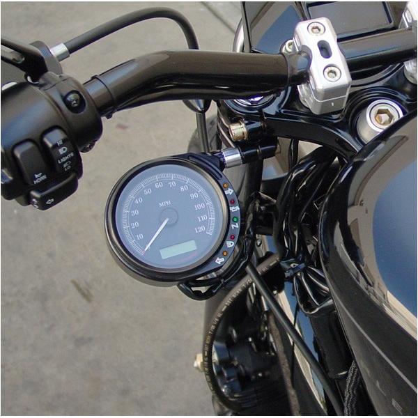 【ジョーカーマシン】スピードメーターサイドマウントキット イージークランプ ブラック 2210-0336/2210-0309