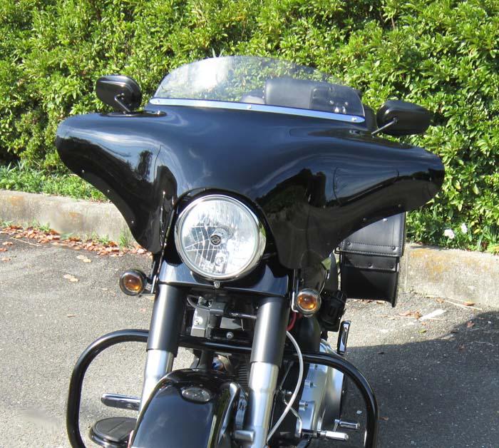 【メンフィスシェード】 バットウイング フェアリング (ブラック)7インチヘッドライト装着車 MEM7011