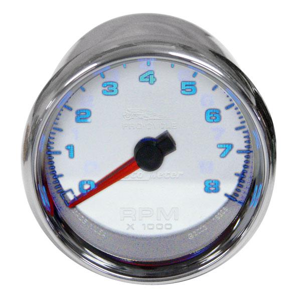 AutoMeter タコメーター 2-5/8インチ ホワイトパネル