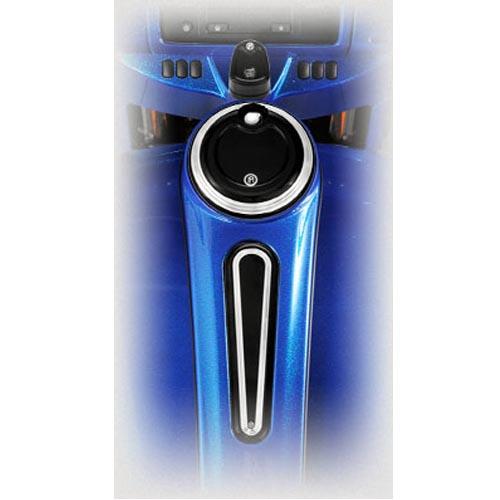 【パフォーマンスマシン】Smooth・イグニッションカバー コントラストカット 2003~2020 ツーリング 0177-2039SMT-BM/0177-2042SMT-BM